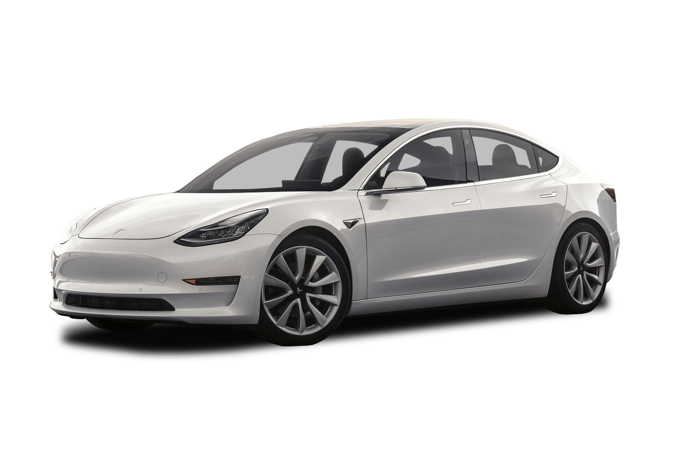 Reliable White Tesla Model 3 Electric Car