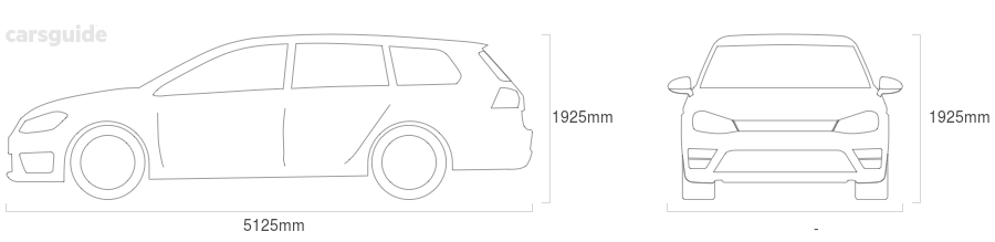 Dimensions for the Hyundai iMAX 2020 Dimensions  include 1925mm height, — width, 5125mm length.