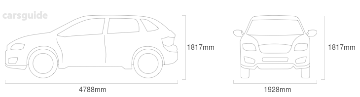 Dimensions for the Land Rover Range Rover Sport 2009 Dimensions  include 1817mm height, 1928mm width, 4788mm length.