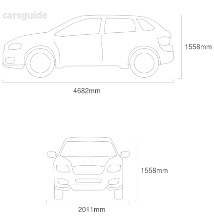 Dimensions for the Jaguar I-Pace 2019 Dimensions  include 1558mm height, 2011mm width, 4682mm length.