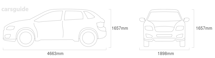 Dimensions for the Audi Q5 2018 include 1657mm height, 1898mm width, 4663mm length.