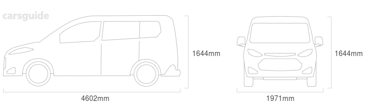 Dimensions for the Citroen C4 2018 include 1644mm height, 1971mm width, 4602mm length.