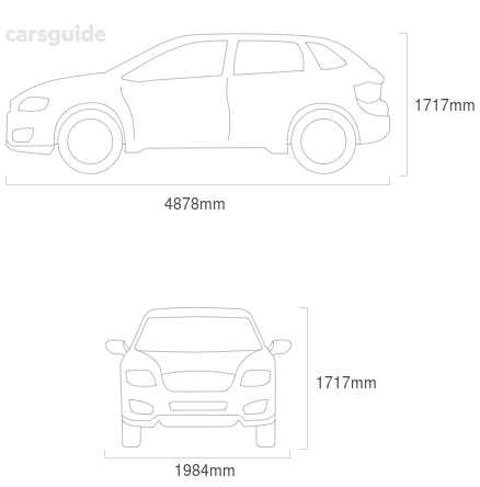 Dimensions for the Volkswagen Touareg 2021 Dimensions  include 1717mm height, 1984mm width, 4878mm length.