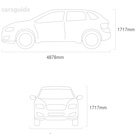Dimensions for the Volkswagen Touareg 2020 Dimensions  include 1717mm height, — width, 4878mm length.