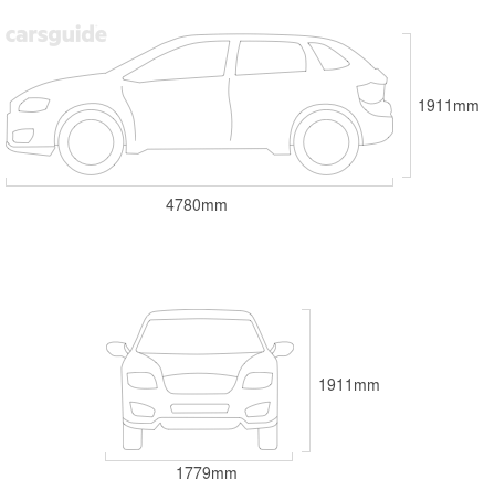 Dimensions for the Mercedes-Benz ML280 2009 Dimensions  include 1911mm height, 1779mm width, 4780mm length.