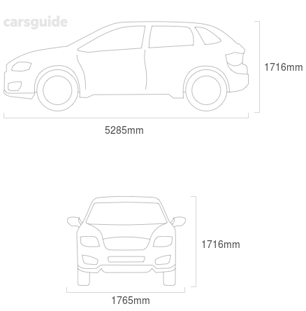 Dimensions for the Chery J11 2012 Dimensions  include 1716mm height, 1765mm width, 5285mm length.