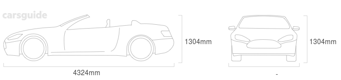 Dimensions for the BMW Z Models 2020 Dimensions  include 1304mm height, — width, 4324mm length.