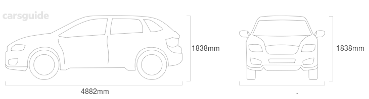 Dimensions for the Jeep Wrangler Unlimited 2021 Dimensions  include 1838mm height, — width, 4882mm length.
