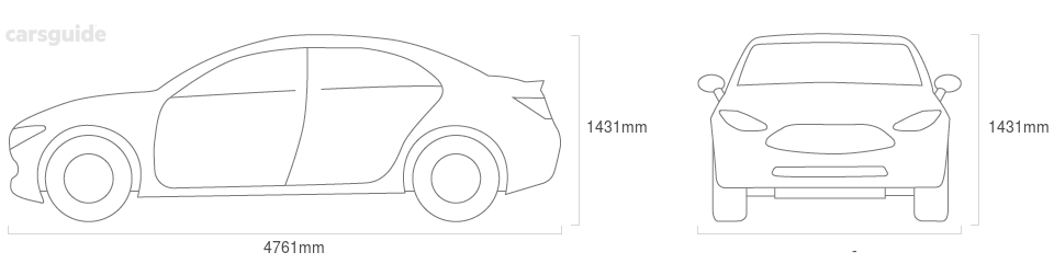Dimensions for the Volvo S60 2020 Dimensions  include 1431mm height, — width, 4761mm length.