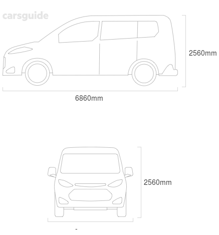 Dimensions for the Toyota Coaster 1994 Dimensions  include 2560mm height, — width, 6860mm length.