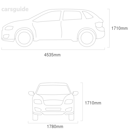 Dimensions for the Honda CR-V 2004 Dimensions  include 1710mm height, 1780mm width, 4535mm length.
