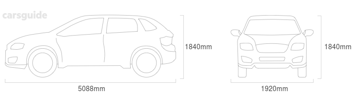 Dimensions for the Mercedes-Benz GL-Class 2011 Dimensions  include 1840mm height, 1920mm width, 5088mm length.