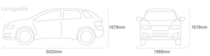Dimensions for the Maserati LEVANTE 2017 Dimensions  include 1679mm height, 1968mm width, 5003mm length.