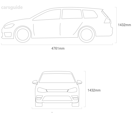 Dimensions for the Volvo V60 2020 Dimensions  include 1432mm height, — width, 4761mm length.