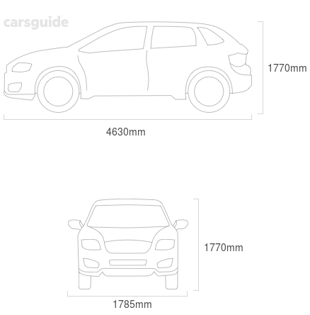 Dimensions for the Nissan X-Trail 2011 Dimensions  include 1770mm height, 1785mm width, 4630mm length.