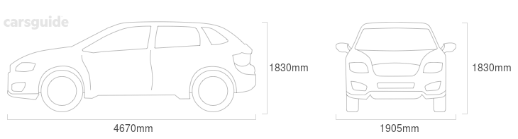Dimensions for the Toyota FJ Cruiser 2011 Dimensions  include 1830mm height, 1905mm width, 4670mm length.