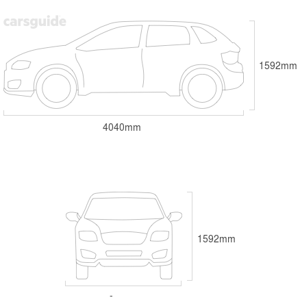 Dimensions for the Hyundai Venue 2020 Dimensions  include 1592mm height, — width, 4040mm length.