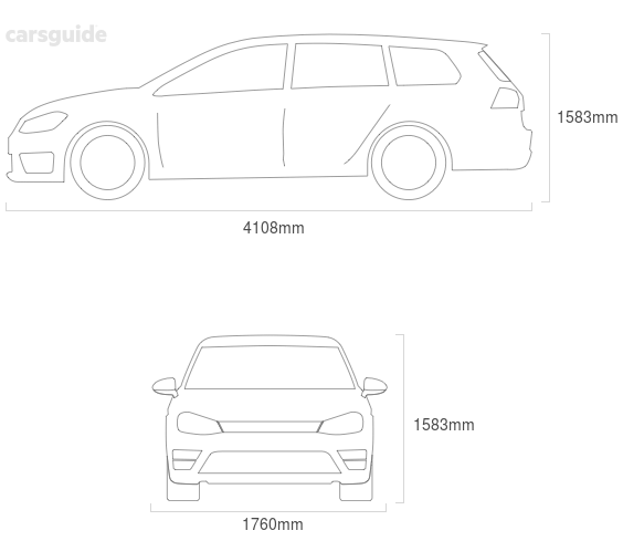 Dimensions for the Volkswagen T-Cross 2021 Dimensions  include 1583mm height, 1760mm width, 4108mm length.