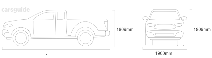 Dimensions for the LDV T60 2019 Dimensions  include 1809mm height, 1900mm width, — length.